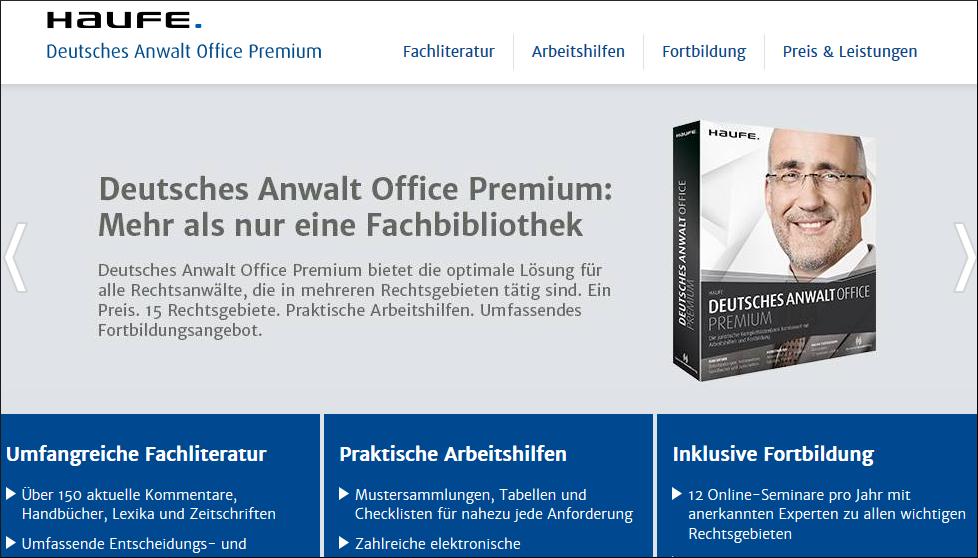 haufe anwalt office premium